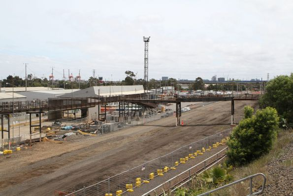 Wagon Storage Yard now closed, track being ripped up for the West Gate 'Tunnel' project