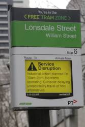 Service disruption from Yarra Trams regarding the planned industrial action on Friday August 21