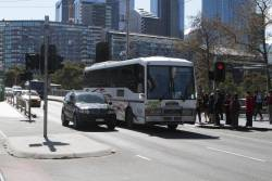 Ventura bus #539 4686AO on a route 12 and 96 tram replacement service outside Crown Casino