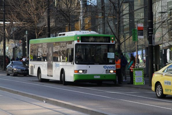 Dysons bus #428 rego 0990AO on a 'City Loop' tram replacement service