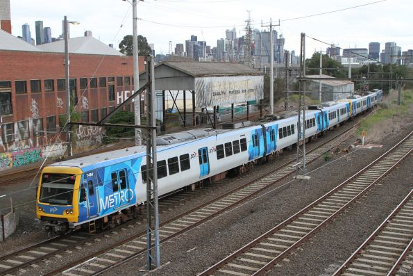 X'Trapolis train on an Oktoberfest special from the Showgrounds at Kensington