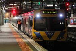 Life extension EDI Comeng 453M ready to depart Southern Cross platform 8
