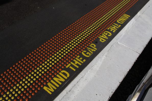 'Mind the gap' signage at Hawthorn