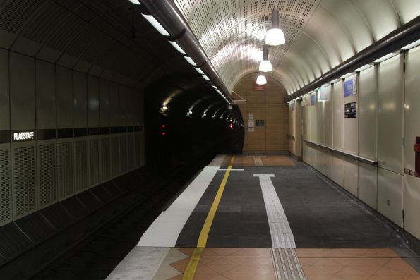 Wheelchair ramps retrofitted at each end of Flagstaff platform 2