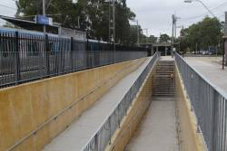 DDA compliant access ramps retrofitted to the pedestrian subway at Noble Park