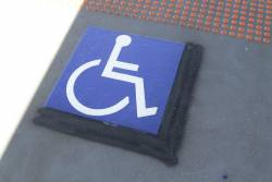 Resized wheelchair boarding marker at Cardinia Road station