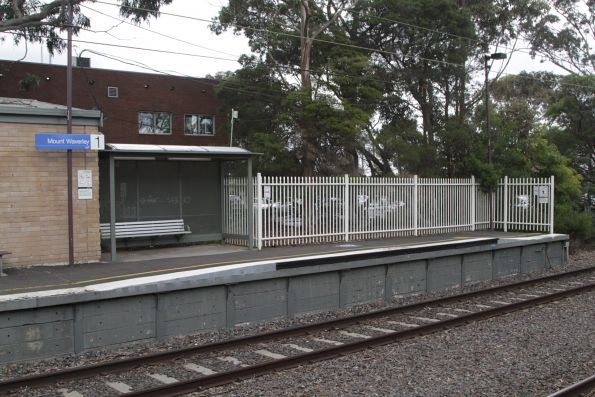 Raised platform ramp at Mount Waverley platform 1