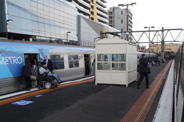 Raised platform ramps at South Yarra allow wheelchair users to board trains without assistance