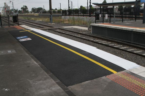 Raised wheelchair ramp installed at Sunshine platform 1