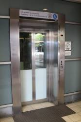Lift at Flinders Street Station - slow as molasses, and so small you can only fit two wheelchairs or prams inside