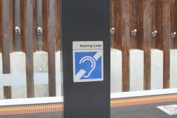 Hearing loop at Bentleigh station