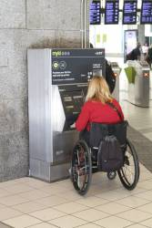 At least the low height of myki machines makes them usable by people in wheelchairs
