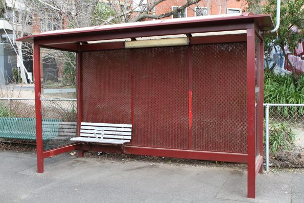 Shelter at the up end of Windsor platform 1