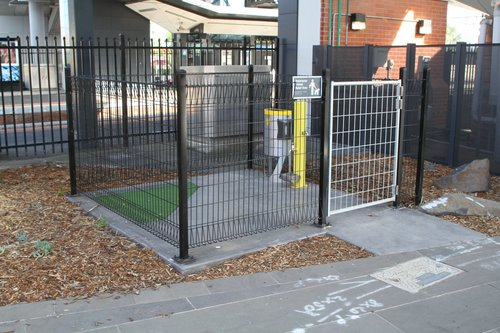 'Assistance animal relief area' at Footscray station