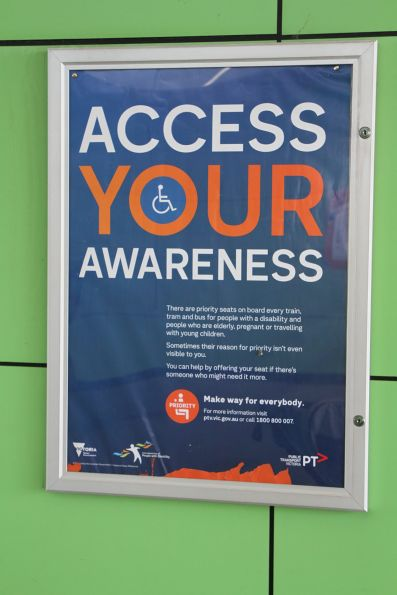 'Access your awareness' priority seat poster