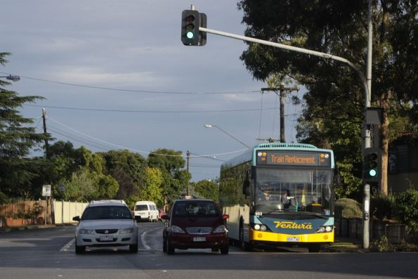 Ventura #962 rego 8047AO on a rail replacement service at Burke Road and Malvern Road