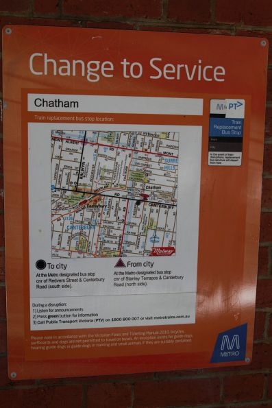 Directions to the train replacement bus stop at Chatham station