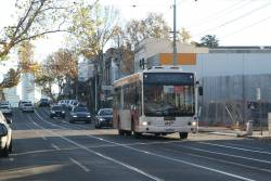 Ventura bus 3507AO on a rail replacement service on Swan Street, Richmond