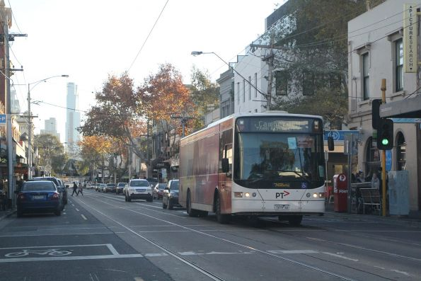 Ventura bus 7479AO on a Camberwell bound rail replacement service on Swan Street, Richmond