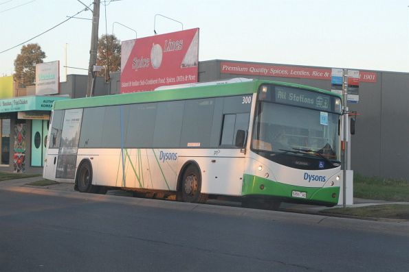 Dysons bus 5456AO on a Werribee line all stations rail replacement service at Aircraft