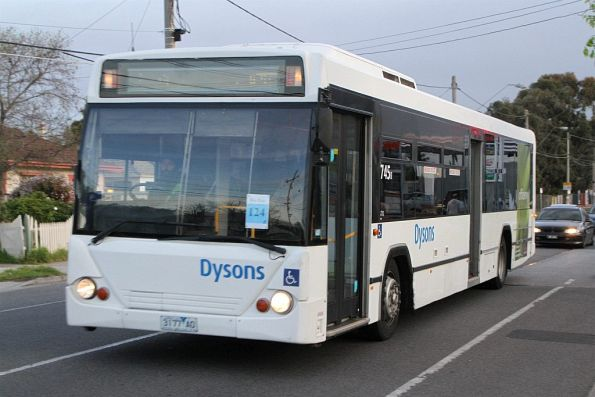 Dysons bus #745 3177AO on a Sunbury rail replacement service along Hampshire Road, Sunshine