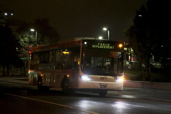 CDC Melbourne bus #126 BS05JM on a Sunbury line rail replacement service at Footscray