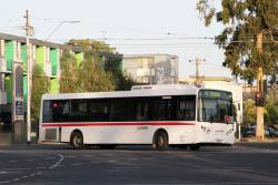 Donric bus #67 2367AO on a Upfield line rail replacement service at Royal Parade and Park Street in Parkville
