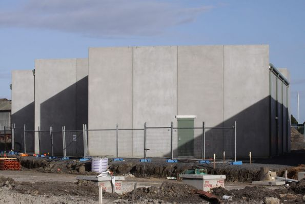 Newport Workshops substation, tilt-slab concrete construction built as part of the 2010 stabling upgrades