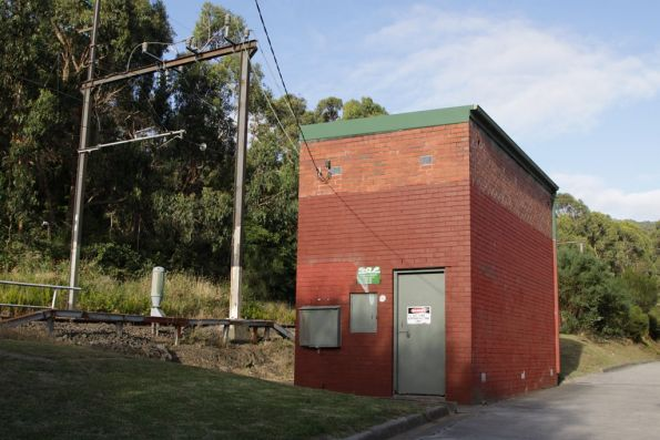 Upper Ferntree Gully tie station,  located at the down end of the station