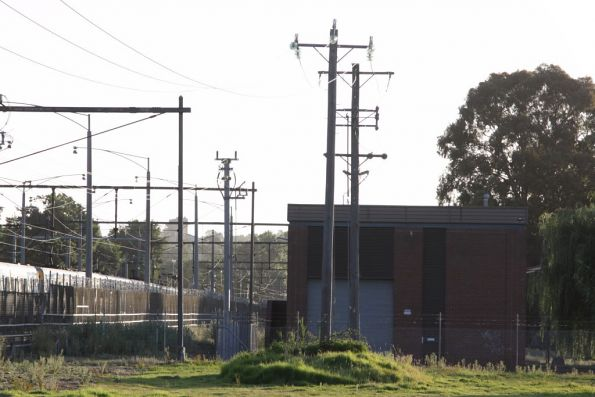 Lilydale substation, 1980s design, at the down end of the stabling yard
