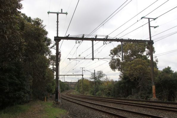 East Camberwell substation, traction feeders, with the 22 kV feeders above headed east