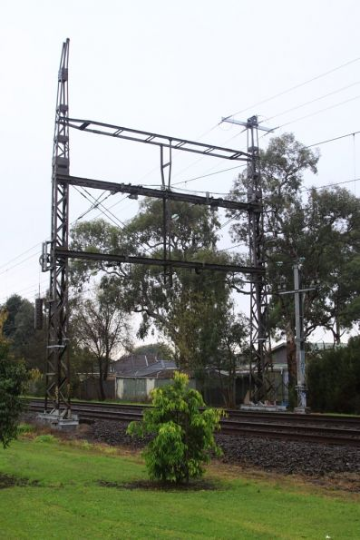 Hughesdale tie station, the second set of connections to the overhead