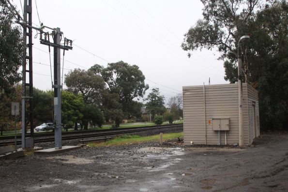Hughesdale tie station, located at the up end of the station