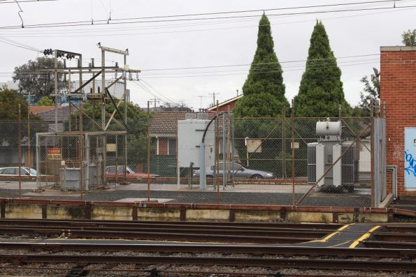 Glen Waverley substation, with modern equipment in the switchyard