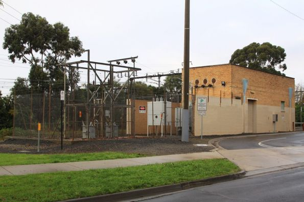 Mount Waverley substation, again with modern equipment in the switchyard