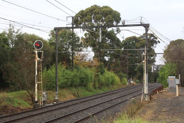 Mount Waverley substation, traction feeders to the overhead