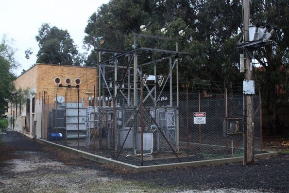 Gardiner substation, switchgear at the up end