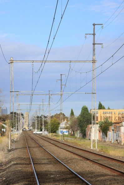 Coburg substation: 22 kV transmission lines head towards the city