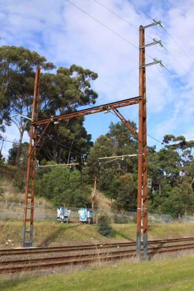 Reservoir substation: 22 kV transmission lines approach from the city direction