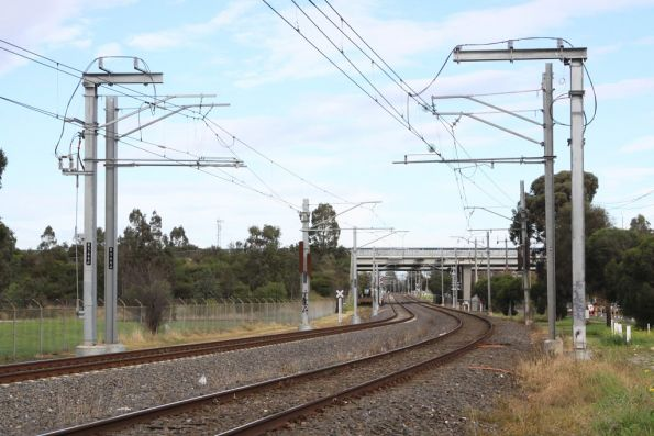 Thomastown substation: new-style traction feeds for the up direction
