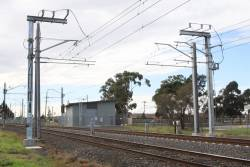 Thomastown substation: new-style traction feeds for the down direction