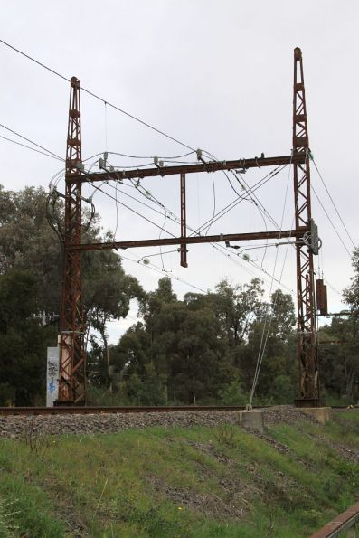 Macleod tie station, 1500 V DC connections to the overhead