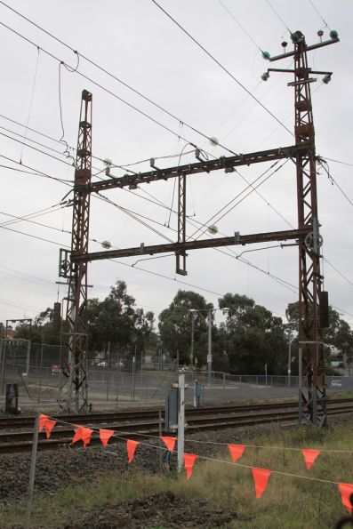 Rosanna substation: 22 kV AC input up top, the 1500 V DC feeder to the trains down below