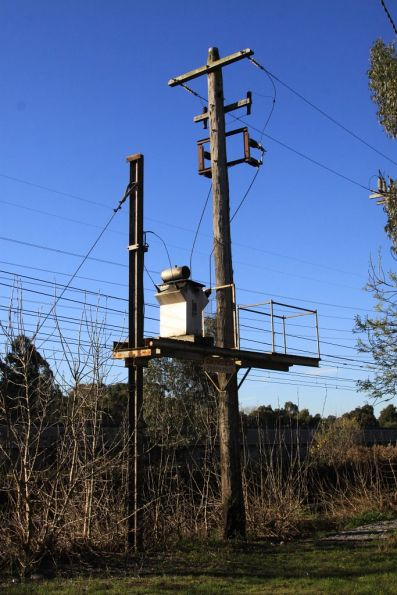 Signalling power transformer at East Malvern