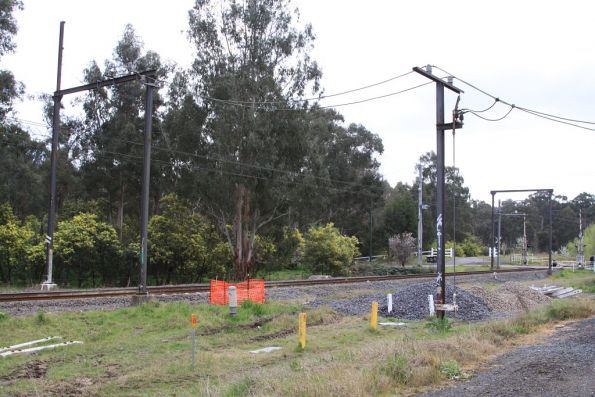 Wattle Glen substation, traction feeds to the overhead