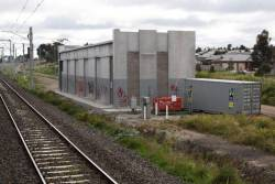 Jackson Creek substation, commissioned in 2012 with the Sunbury electrification project