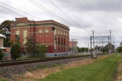Glenroy substation, view from the down end