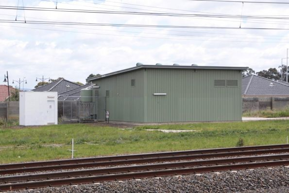 Coolaroo substation, located at the up end of the station