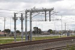 Coolaroo substation, underground feeders connect to the overhead