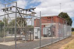 Croxton substation, switchyard and transformers